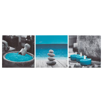 Set of 3 Rocks and Candles Canvases