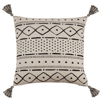 "Tamiko Decorative Pillow Cover with Pom-Poms 18"" X 18"""