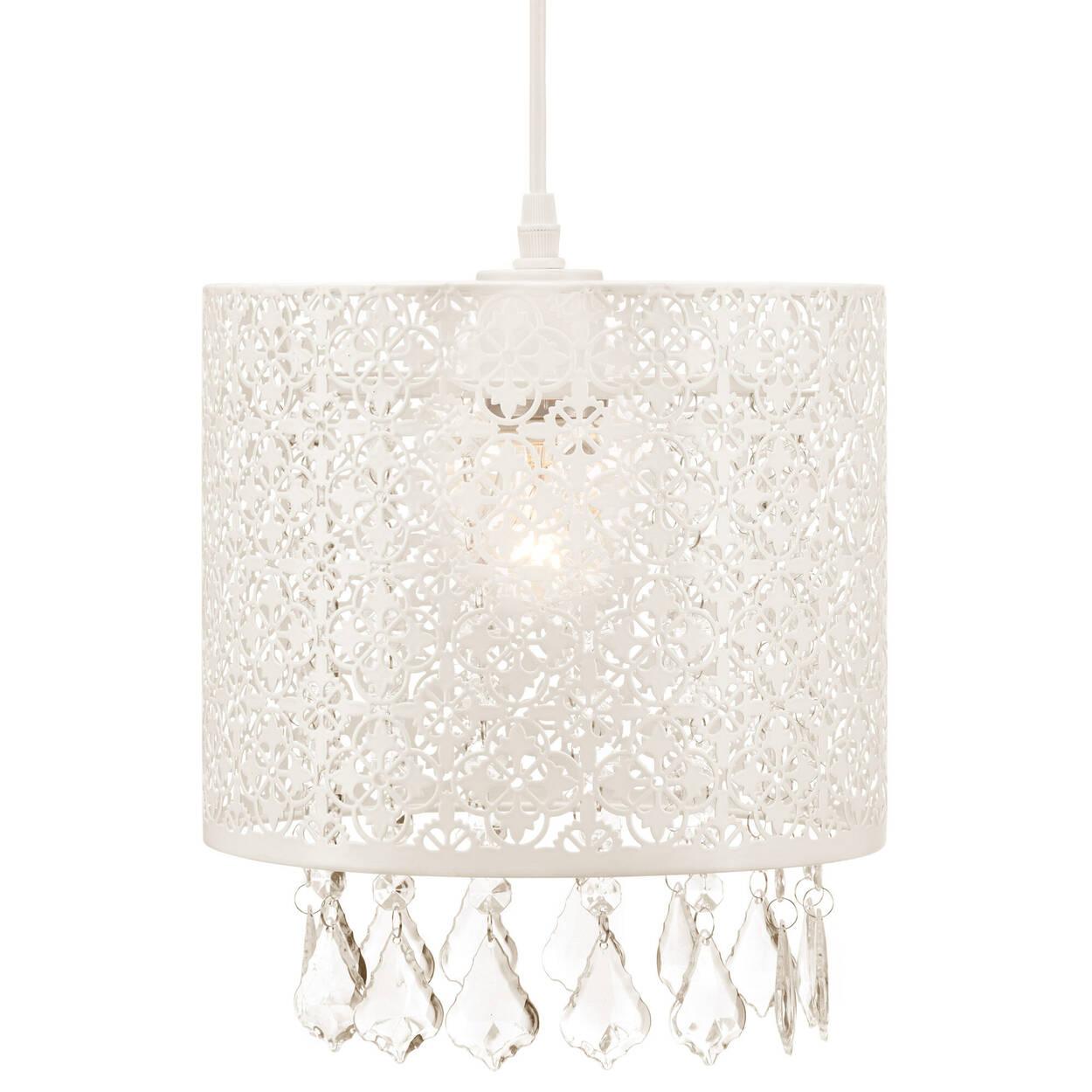 Lampe suspendue en métal ajouré avec gouttelettes