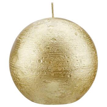 Chandelle ronde avec un fini métallique