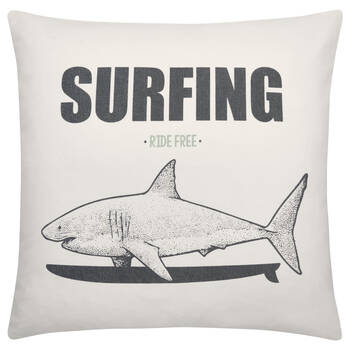 "Surfing Decorative Pillow 19"" x 19"""