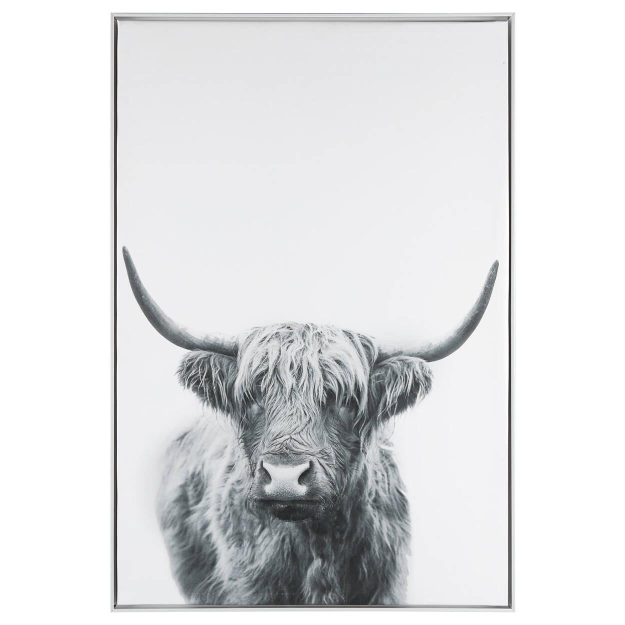 Lonely Bull Printed Framed Art
