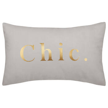 "Chic Decorative Lumbar Pillow 13"" X 20"""