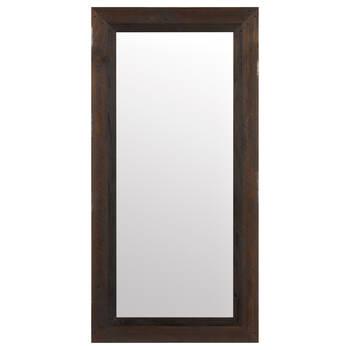 Miroir avec cadre effet bois de grange