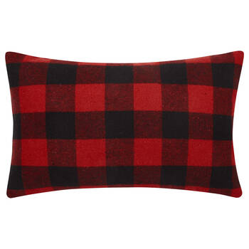 "Lewis Lumbar Plaid Decorative Pillow 13"" X 20"""
