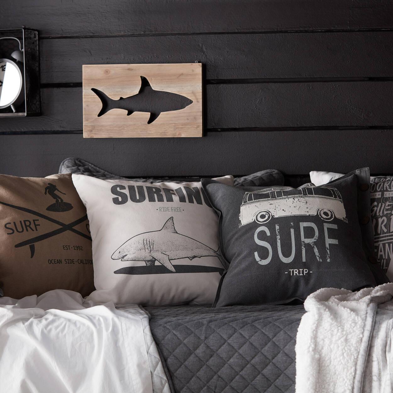 "Surf Camp Decorative Pillow 19"" x 19"""