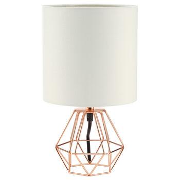 Lampe de table géométrique en tiges de métal
