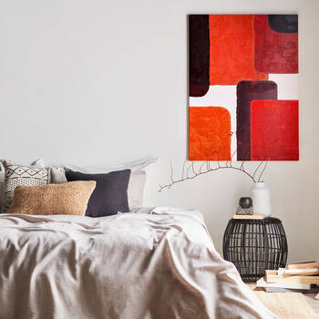 Colour-Block Printed Canvas with Gel Embellishments