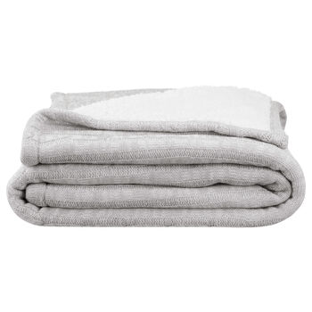 "Lovella Knit & Sherpa Throw 50"" X 60"""
