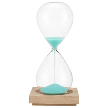 Decorative Hourglass with Wood Base