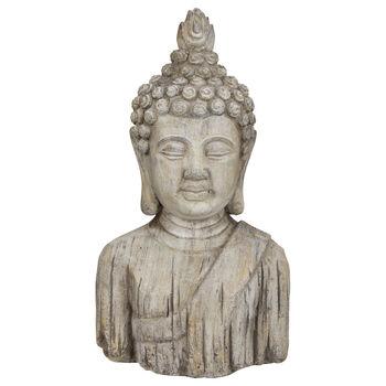 "Cement Buddha Bust Statue 10.5"""