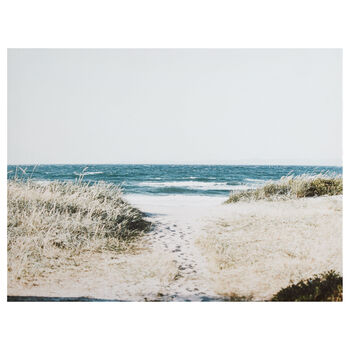 Beach Ahead Printed Canvas