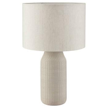 Lampe de table en céramique avec motif