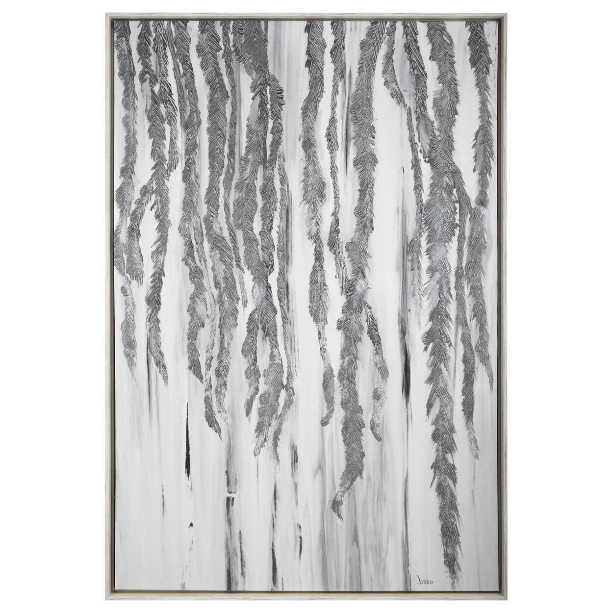 Oversized Printed & Painted Silver Leaf Framed Art | Bouclair.com