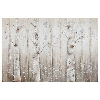 Birch Forest Oil Painted Canvas