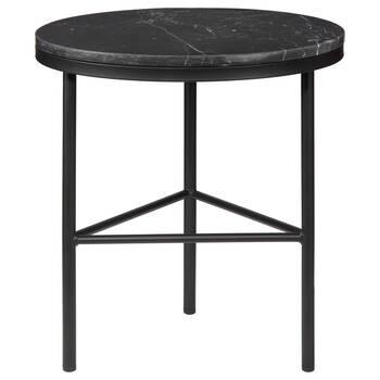 Table d'appoint en marbre et en métal