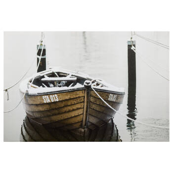 Docked Boat Printed Canvas