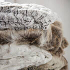 "Hare Faux Fur Throw 50"" X 60"""