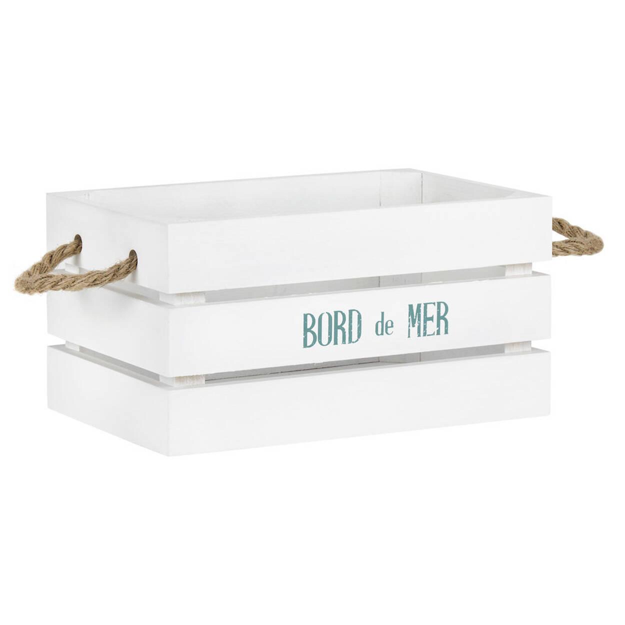 petite caisse en bois bord de mer. Black Bedroom Furniture Sets. Home Design Ideas