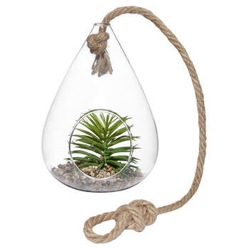 Hanging Terrarium with Artifical Succulent