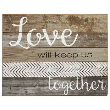 Love Wood-Like Wall Art