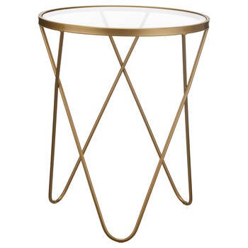 Metal and Glass Side Table