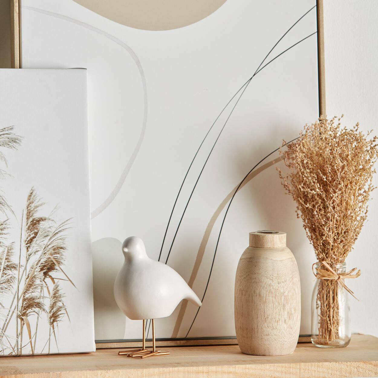 Natural Wood Mini Vase