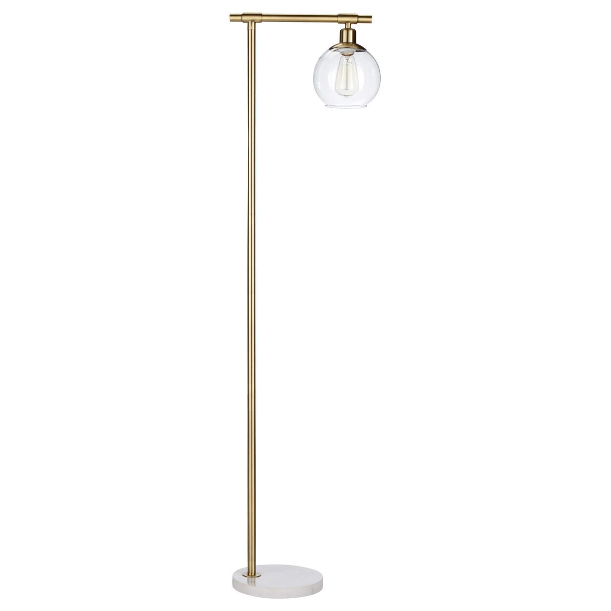 Metal, Marble and Glass Floor Lamp