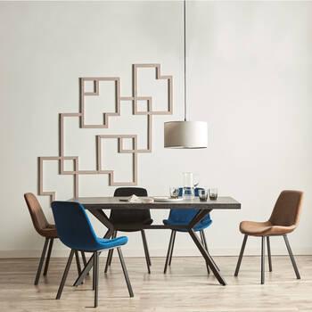 Round Linen Ceiling Lamp