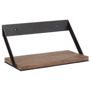 Tablette en bois et en métal petite