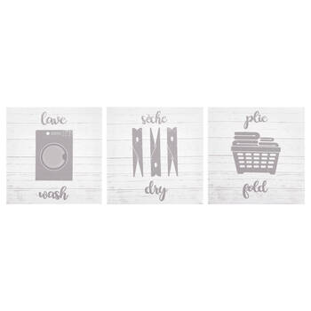 Set of 3 Typography Canvases