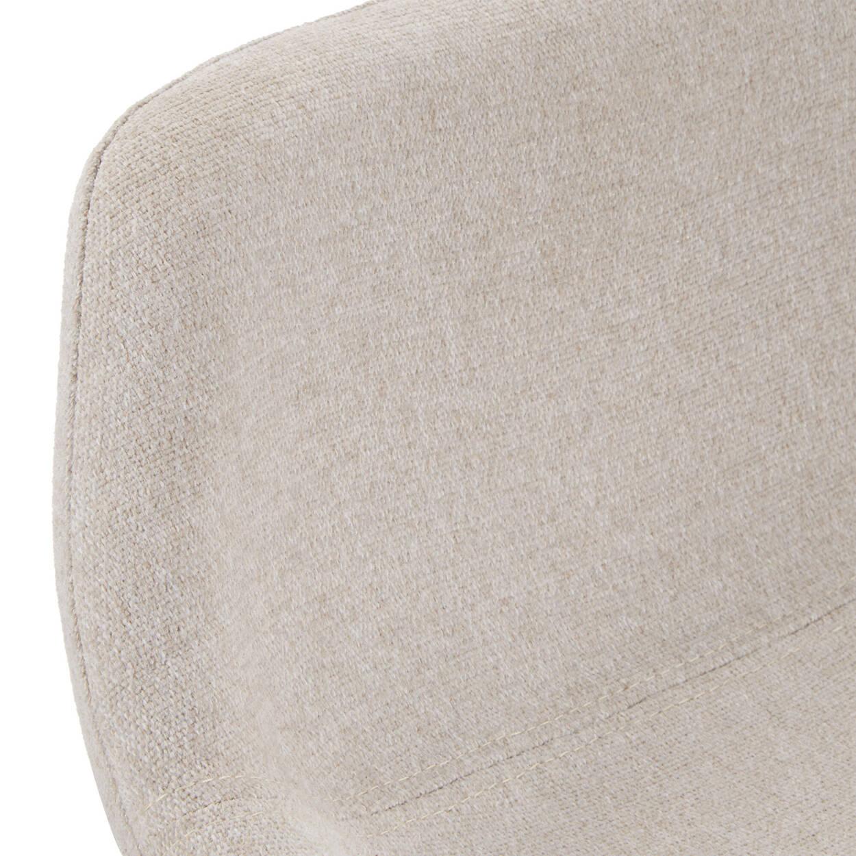 Fabric and Natural Wood Stool
