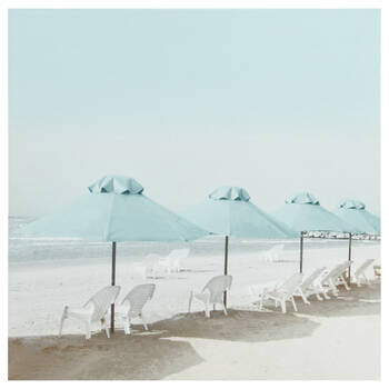 Beach Umbrellas Printed Canvas