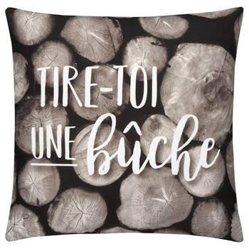 """Bûche Decorative Pillow Cover 18"""" X 18"""""""
