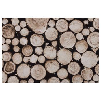 Wood Logs Printed Canvas