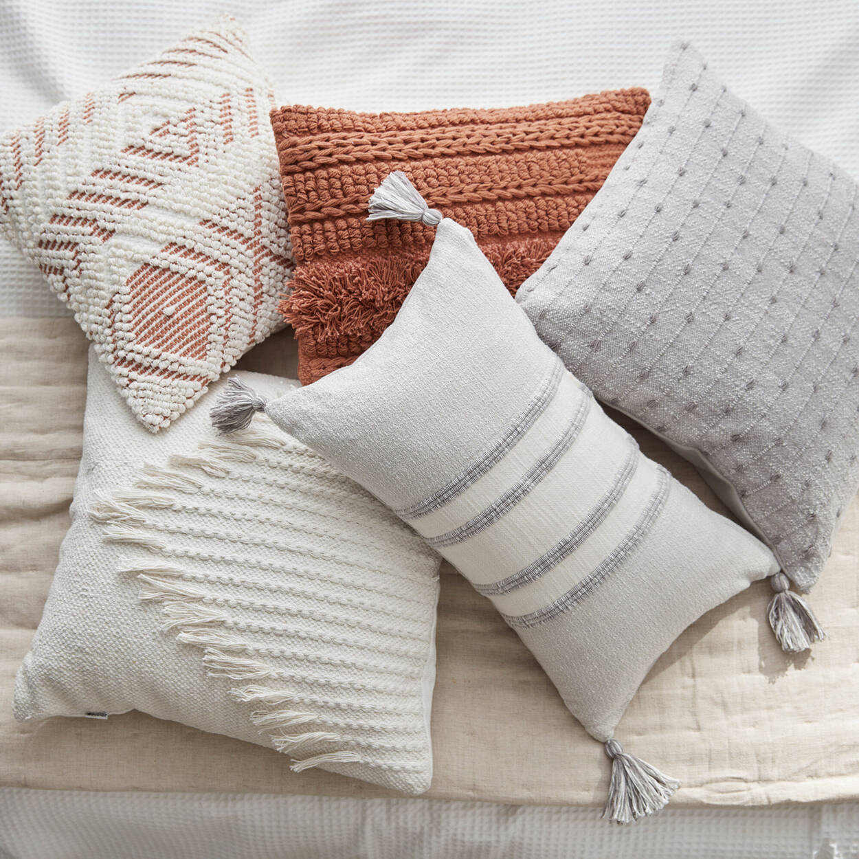"Shane Tasseled Decorative Pillow 20"" x 20"""