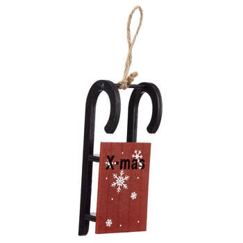 Red Sled Ornament