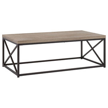 Veneer and Metal Coffee Table