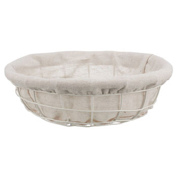 Metal and Fabric Bread Basket