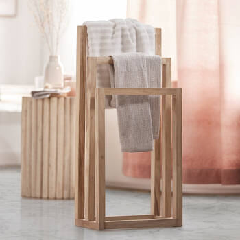 Wood Towel Rack