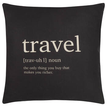 "Travel Decorative Pillow Cover 18"" X 18"""