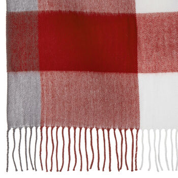 """Checked Plaid Throw with Tassels 50"""" X 60"""""""