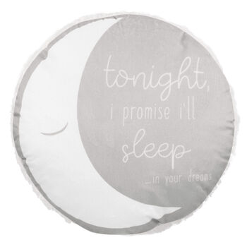 "I'll Sleep Sherpa-Lined Round Decorative Pillow 15"" X 15"""