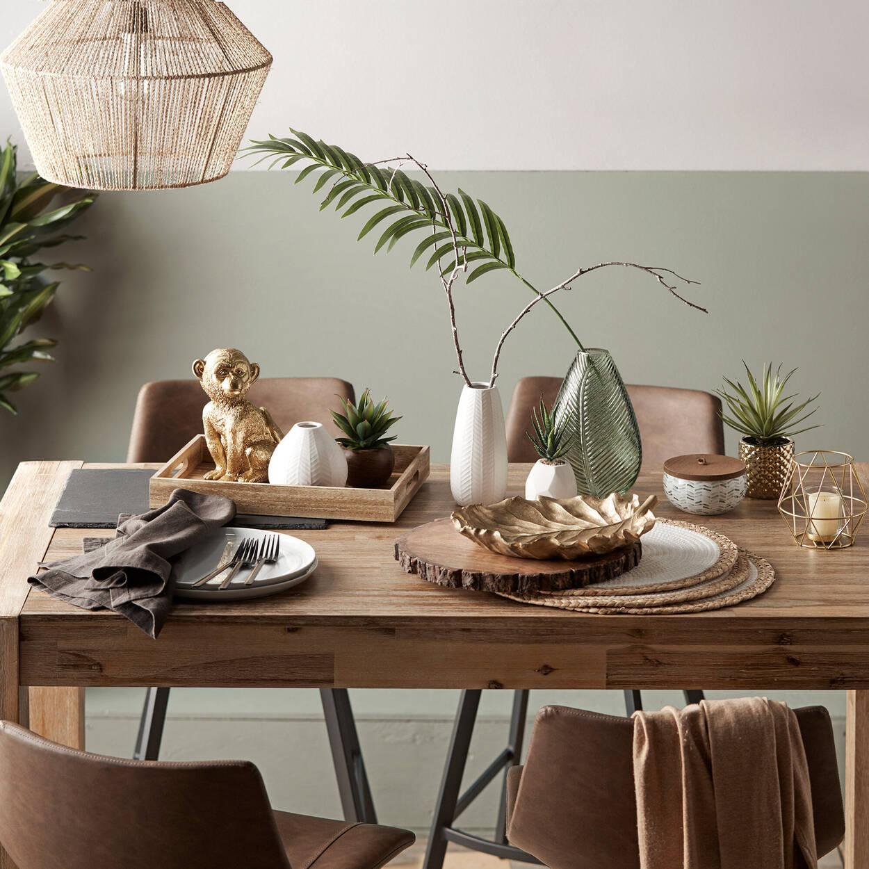 Leaf Glass Table Vase