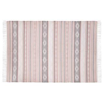 Tapis géométrique en coton