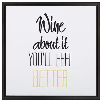Wine Typography Canvas