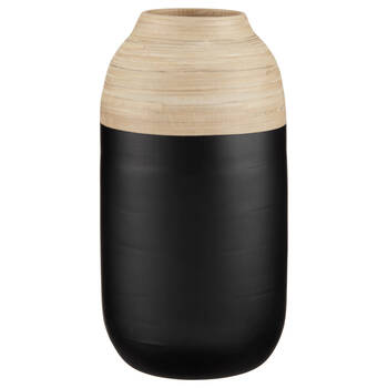 Natural and Black Bamboo Table Vase