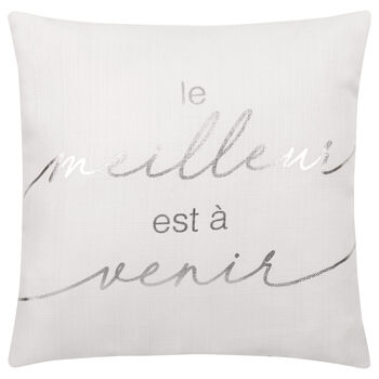 "Le Meilleur est à Venir Decorative Pillow 19"" x 19"""