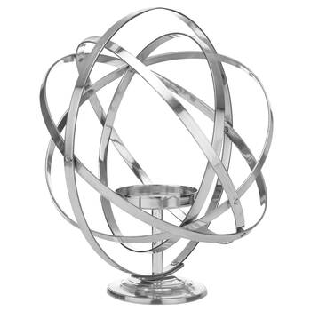 Iron Sphere Candle Holder
