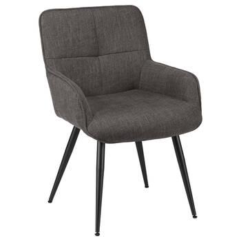 Chita Fabric and Metal Lounge Chair